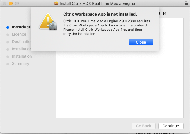 Citrix Workspace is installed but not installed